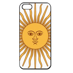 Argentina Sun of May  Apple iPhone 5 Seamless Case (Black)