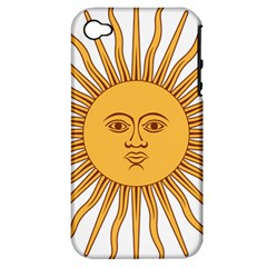 Argentina Sun of May  Apple iPhone 4/4S Hardshell Case (PC+Silicone)