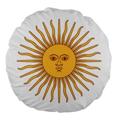 Argentina Sun of May  Large 18  Premium Round Cushions