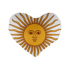Argentina Sun of May  Standard 16  Premium Heart Shape Cushions