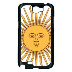 Argentina Sun of May  Samsung Galaxy Note 2 Case (Black)