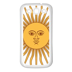 Argentina Sun of May  Samsung Galaxy S3 Back Case (White)
