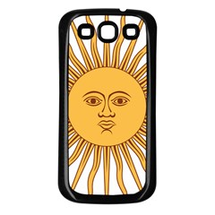 Argentina Sun of May  Samsung Galaxy S3 Back Case (Black)