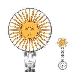 Argentina Sun of May  Stainless Steel Nurses Watch