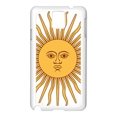 Argentina Sun of May  Samsung Galaxy Note 3 N9005 Case (White)