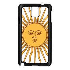 Argentina Sun of May  Samsung Galaxy Note 3 N9005 Case (Black)