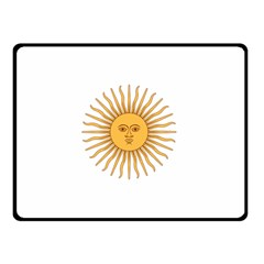 Argentina Sun of May  Double Sided Fleece Blanket (Small)