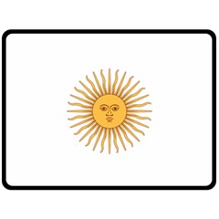 Argentina Sun of May  Double Sided Fleece Blanket (Large)