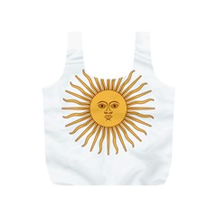 Argentina Sun of May  Full Print Recycle Bags (S)