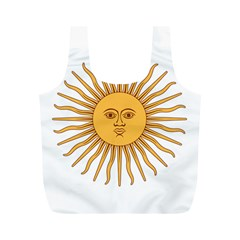 Argentina Sun of May  Full Print Recycle Bags (M)