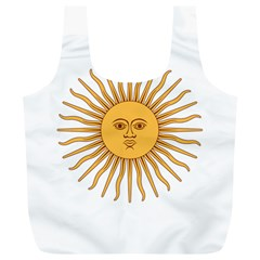 Argentina Sun of May  Full Print Recycle Bags (L)