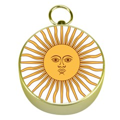 Argentina Sun of May  Gold Compasses