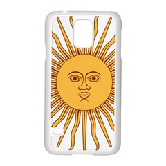 Argentina Sun of May  Samsung Galaxy S5 Case (White)