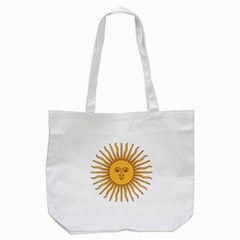 Argentina Sun of May  Tote Bag (White)