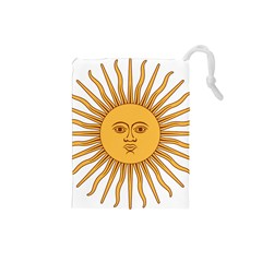 Argentina Sun of May  Drawstring Pouches (Small)