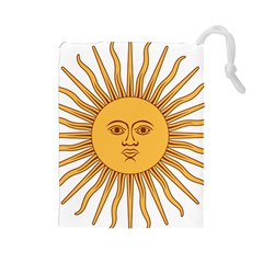 Argentina Sun of May  Drawstring Pouches (Large)
