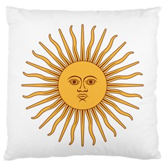 Argentina Sun of May  Large Flano Cushion Case (Two Sides)