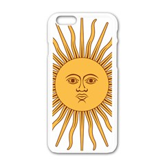 Argentina Sun of May  Apple iPhone 6/6S White Enamel Case