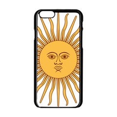 Argentina Sun of May  Apple iPhone 6/6S Black Enamel Case
