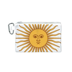 Argentina Sun of May  Canvas Cosmetic Bag (S)