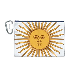 Argentina Sun of May  Canvas Cosmetic Bag (M)