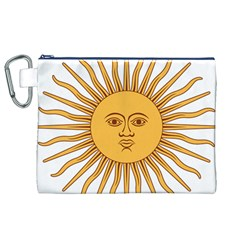 Argentina Sun of May  Canvas Cosmetic Bag (XL)