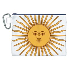 Argentina Sun of May  Canvas Cosmetic Bag (XXL)