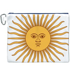 Argentina Sun of May  Canvas Cosmetic Bag (XXXL)