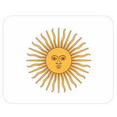 Argentina Sun of May  Double Sided Flano Blanket (Medium)