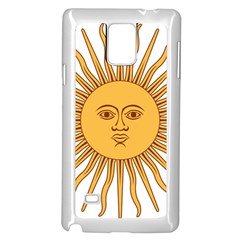 Argentina Sun of May  Samsung Galaxy Note 4 Case (White)