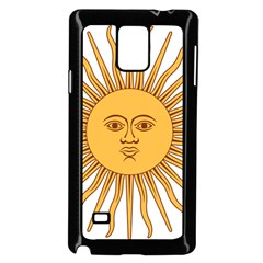 Argentina Sun of May  Samsung Galaxy Note 4 Case (Black)