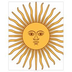 Argentina Sun of May  Drawstring Bag (Small)