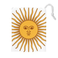 Argentina Sun of May  Drawstring Pouches (Extra Large)