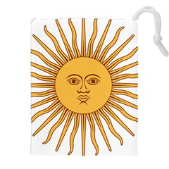Argentina Sun of May  Drawstring Pouches (XXL)
