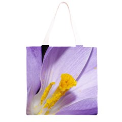 Purple Crocus Grocery Light Tote Bag