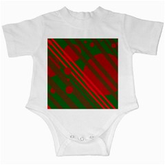 Red and green abstract design Infant Creepers