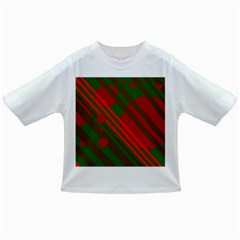 Red and green abstract design Infant/Toddler T-Shirts