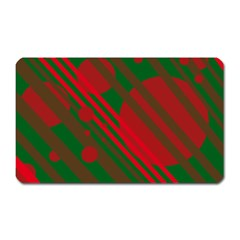 Red and green abstract design Magnet (Rectangular)