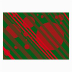Red and green abstract design Collage Prints