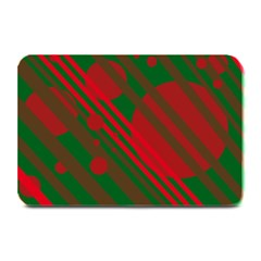 Red and green abstract design Plate Mats