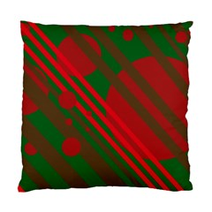 Red and green abstract design Standard Cushion Case (Two Sides)