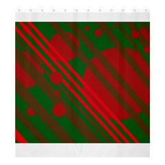 Red and green abstract design Shower Curtain 66  x 72  (Large)