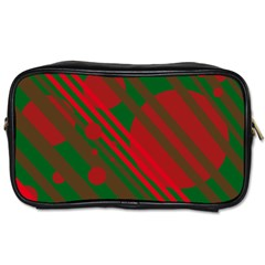 Red and green abstract design Toiletries Bags