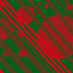 Red and green abstract design Magic Photo Cubes