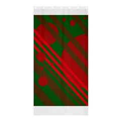 Red and green abstract design Shower Curtain 36  x 72  (Stall)