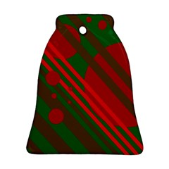 Red and green abstract design Ornament (Bell)
