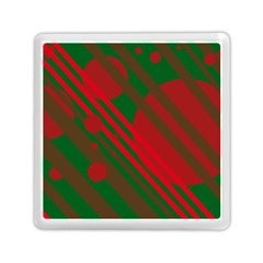 Red and green abstract design Memory Card Reader (Square)