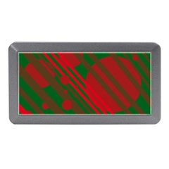 Red and green abstract design Memory Card Reader (Mini)