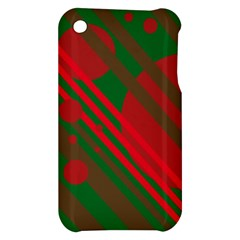Red and green abstract design Apple iPhone 3G/3GS Hardshell Case