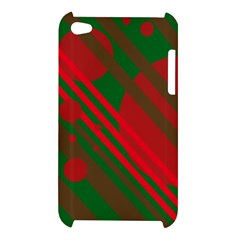 Red and green abstract design Apple iPod Touch 4